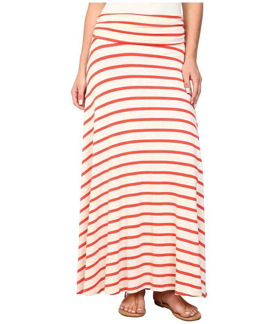 Brigitte Bailey - Jordan Stripe Maxi Skirt (Orange/Beige) Women's Skirt