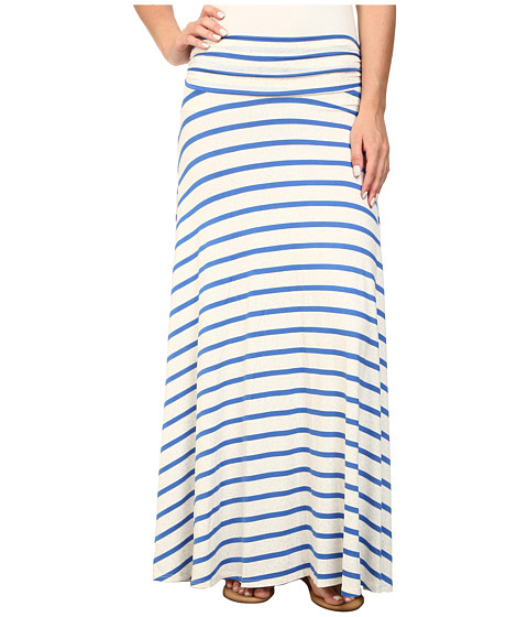 Brigitte Bailey - Jordan Stripe Maxi Skirt (Blue/Beige) Women's Skirt