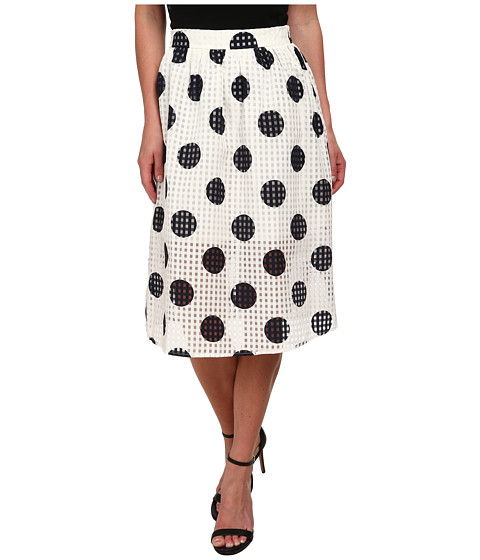 Brigitte Bailey - Delia Polka Dot Skirt (Navy) Women