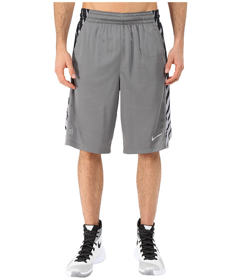Nike - Elite Powerup Shorts (Tumbled Grey/Black) Men's Shorts
