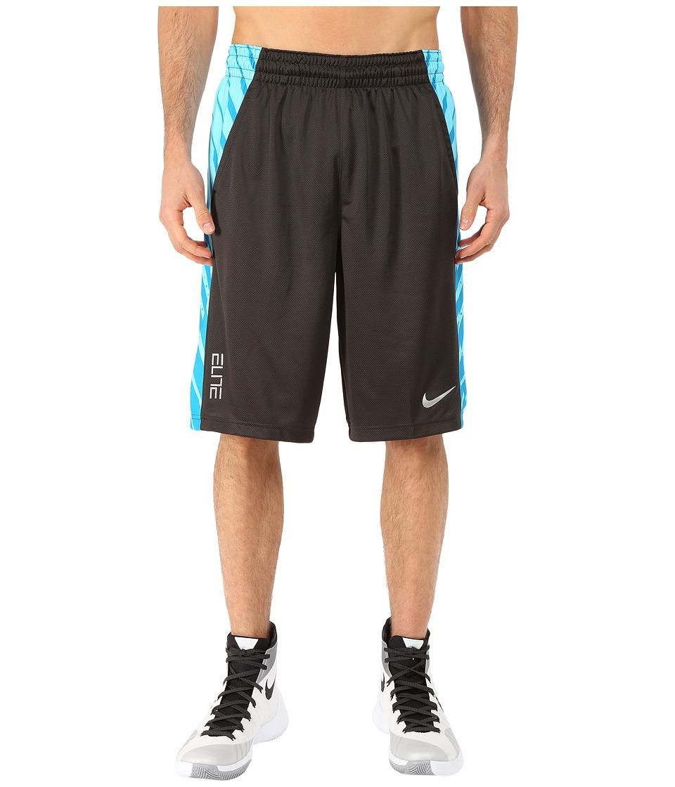 Nike - Elite Powerup Shorts (Deep Pewter/Tidal Blue) Men
