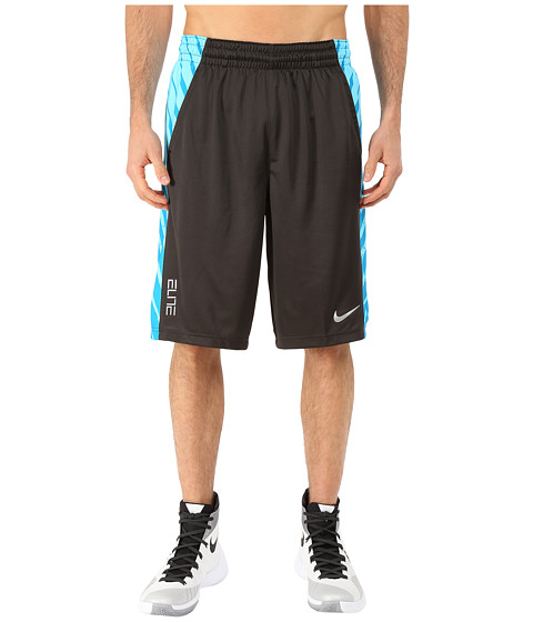 Nike - Elite Powerup Shorts (Deep Pewter/Tidal Blue) Men