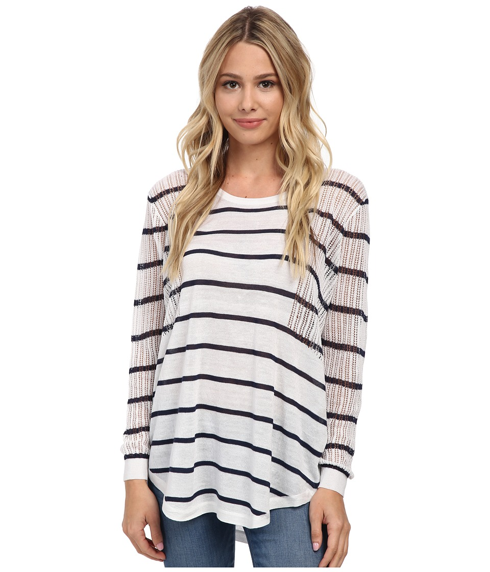 Brigitte Bailey - Jenna Stripe Sweater (White/Navy) Women's Sweater