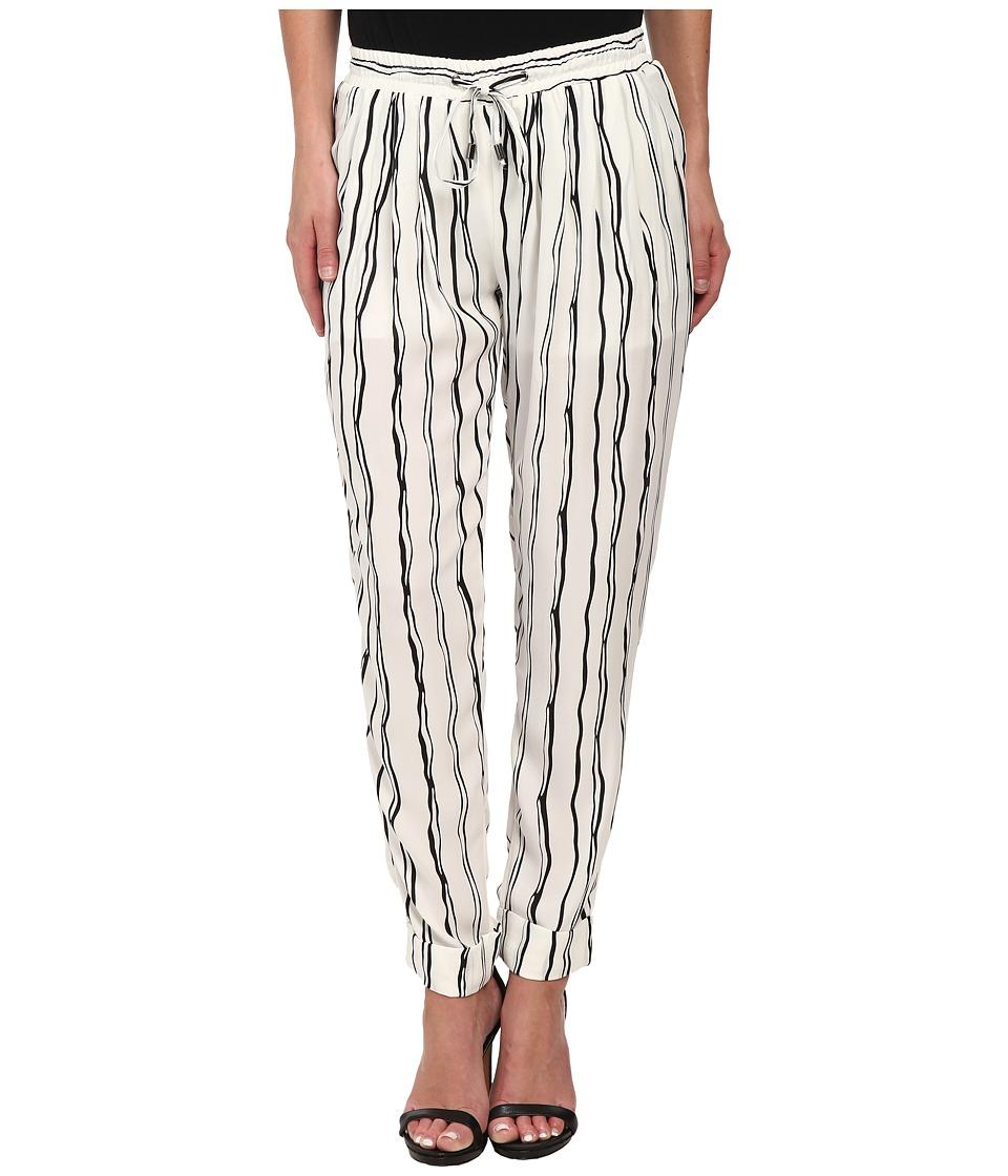 Brigitte Bailey - Elena Stripe Pants (White) Women's Casual Pants