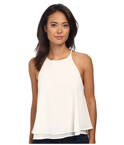 Brigitte Bailey - Liza Chiffon Layered Tank Top (Off White) Women