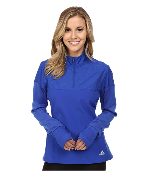 adidas - Supernova Storm 1/2 Zip Jacket (Bold Blue) Women