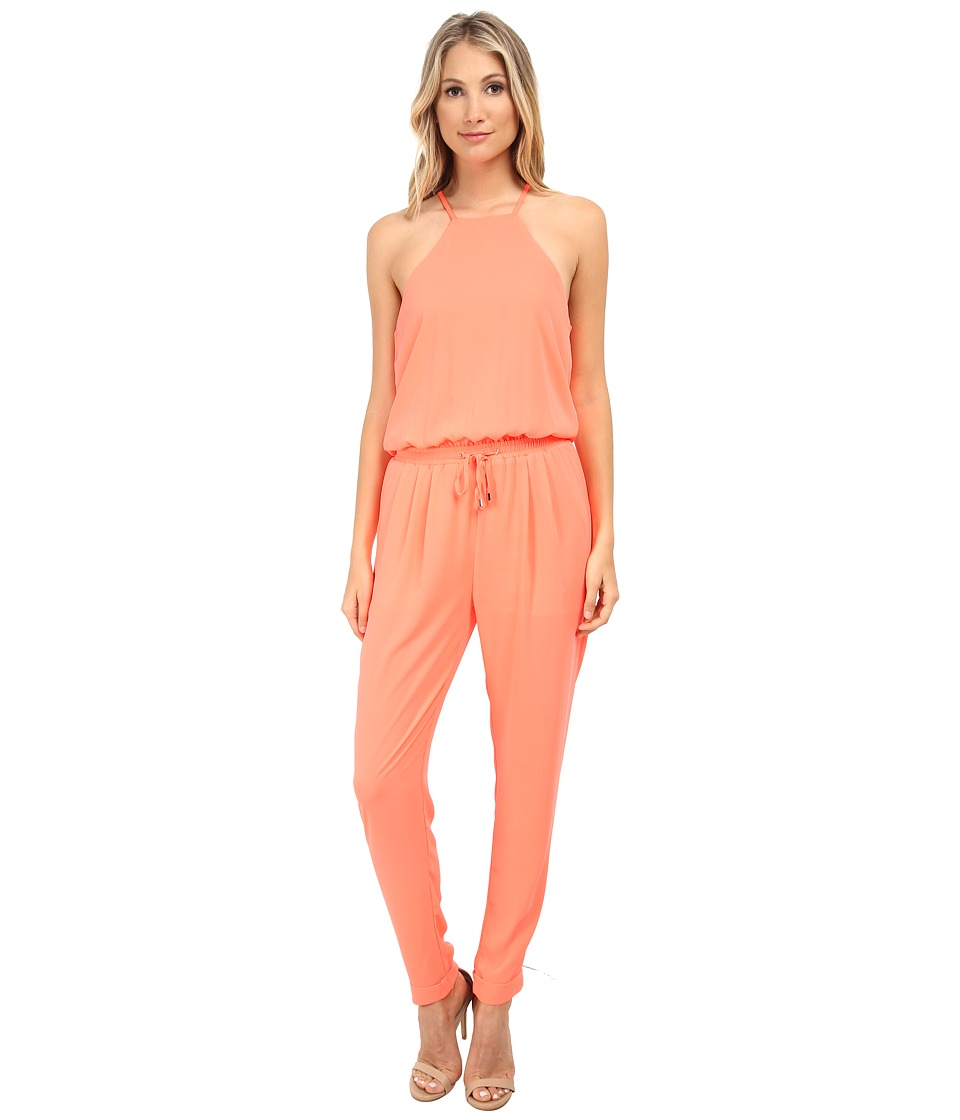 Brigitte Bailey - Susie Jumper (Neon Coral) Women's Jumpsuit & Rompers One Piece