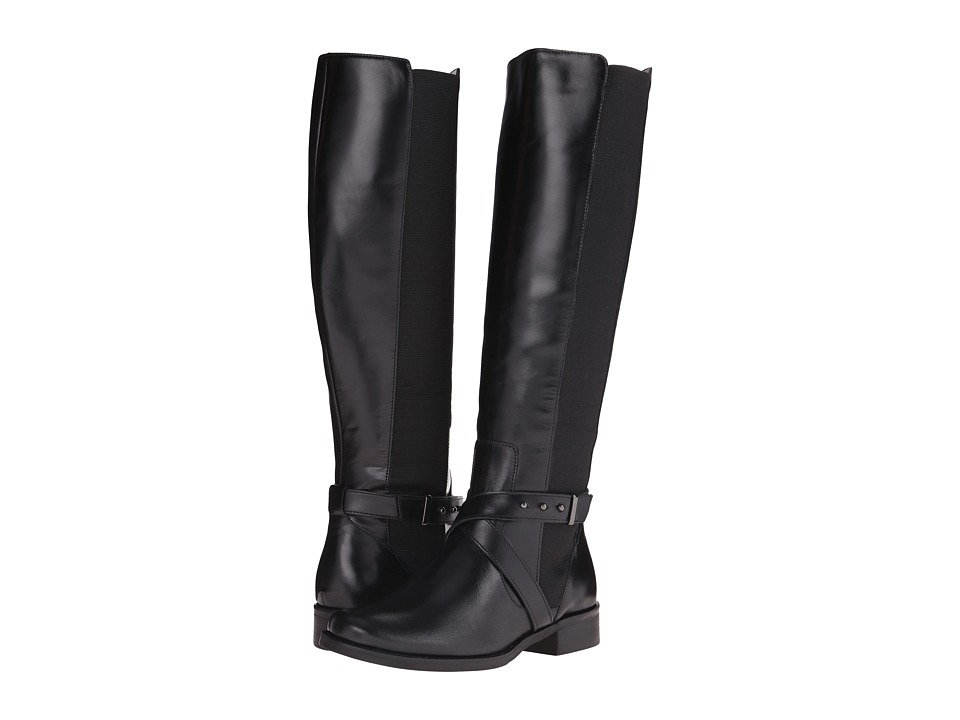 Steven - Sydnee (Black Leather) Women's Dress Zip Boots
