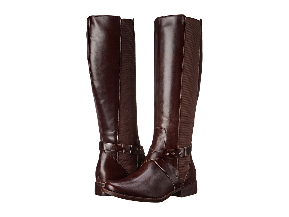 Steven - Sydnee (Brown Leather) Women's Zip Boots