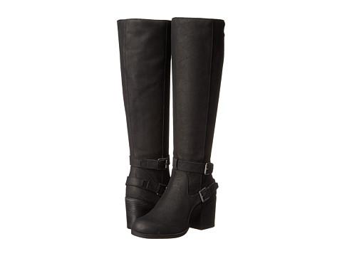 Steven - Olyvvya (Black Leather) Women's Zip Boots