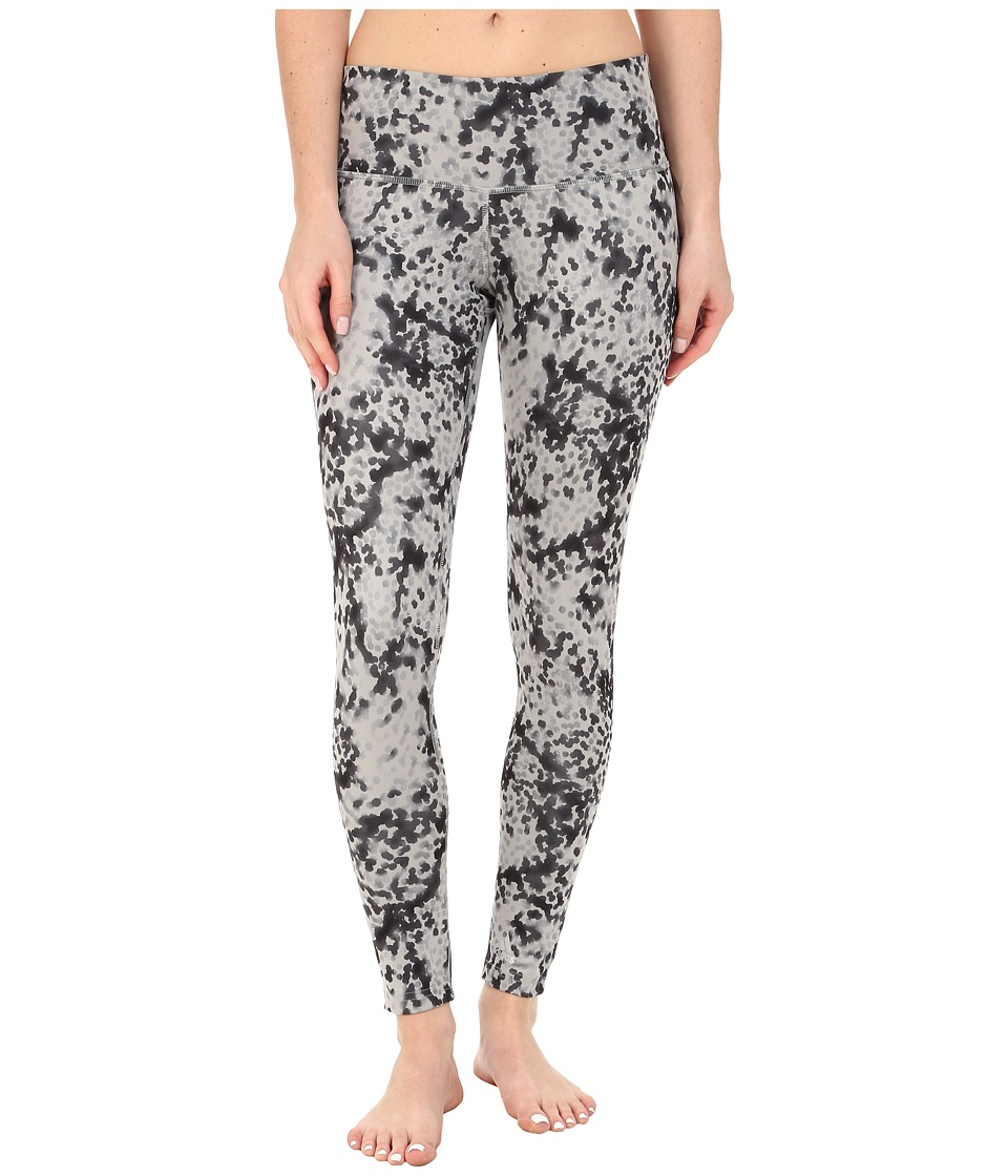 adidas - Performer Mid Rise Long Tights Radiant Dot Print (Medium Grey Heather/Solid Grey/Black/Matte Silver) Women's Workout