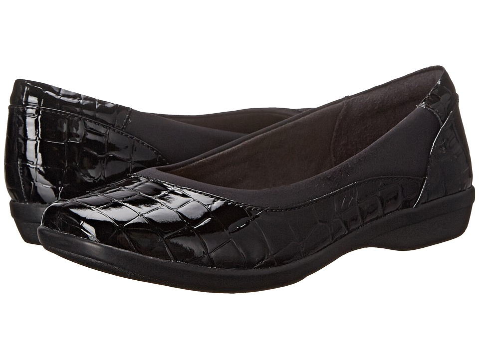 Clarks - Haydn Pearl (Black Croco) Women's Shoes