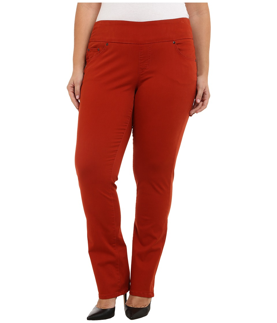 Jag Jeans Plus Size - Plus Size Peri Pull On Straight Jeans in Henna (Henna) Women's Jeans