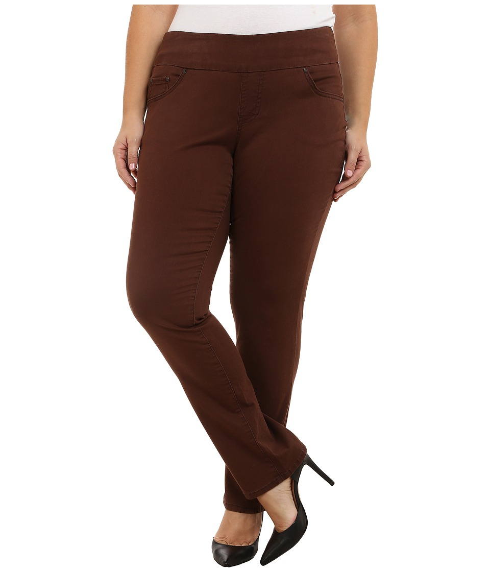 Jag Jeans Plus Size - Plus Size Peri Pull On Straight Jeans in Java Dark (Java Dark) Women's Jeans