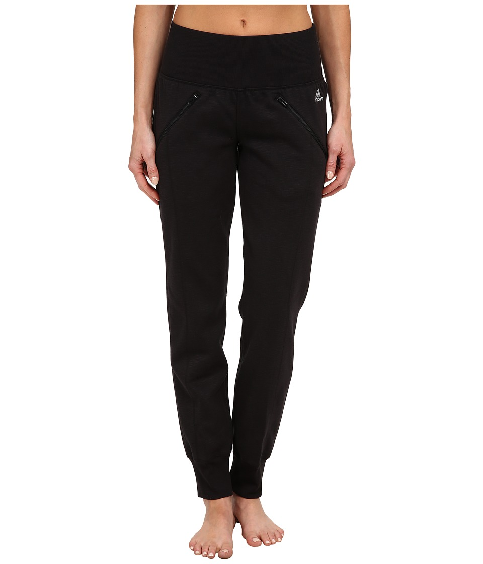 adidas - Cozy Fleece Banded Pants (Black) Women