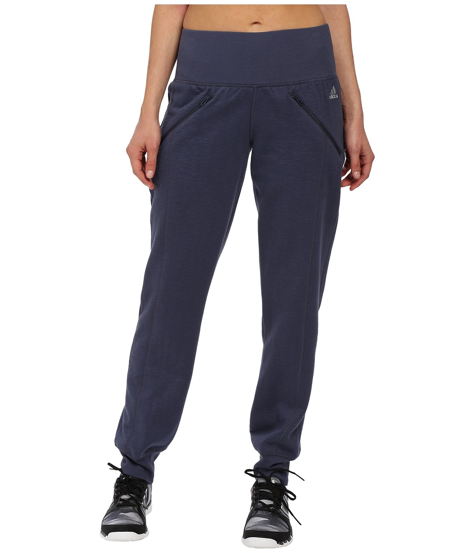 adidas - Cozy Fleece Banded Pants (Midnight Grey) Women