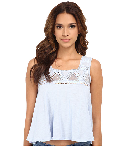 Free People - Costa Mesa Mesh Top (Angel Blue) Women's Sleeveless