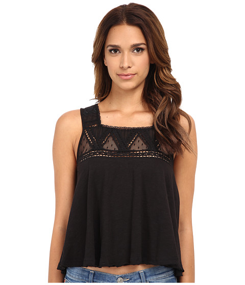 Free People - Costa Mesa Mesh Top (Black) Women's Sleeveless