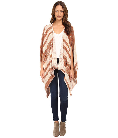 Free People - Big Trail Poncho (Sunset Combo) Women's Coat