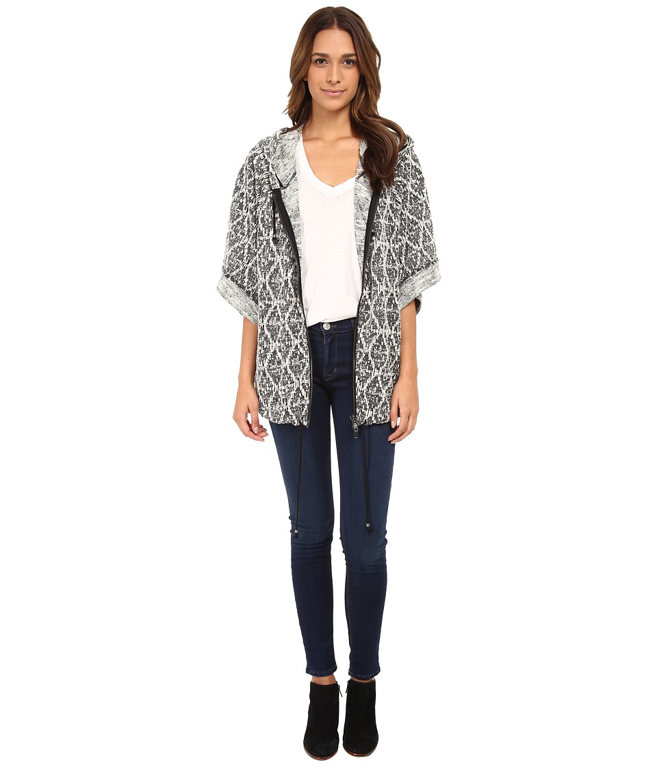 Free People - Santa Fe Jacket (Black/White) Women's Coat