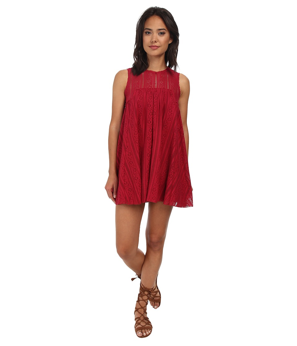 Free People - Tu Es La Mini (Red Combo) Women's Dress