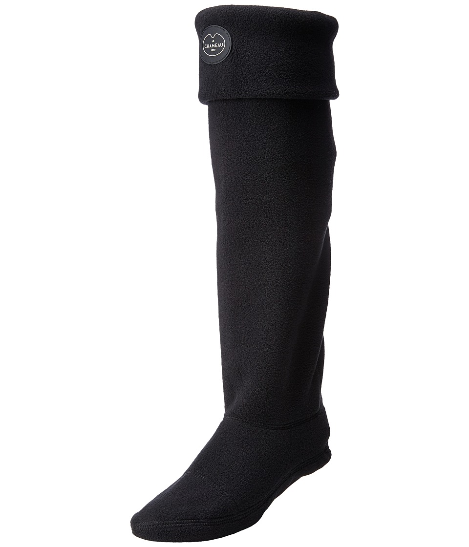 Le Chameau - Atlas Haut (Noir) Crew Cut Socks Shoes