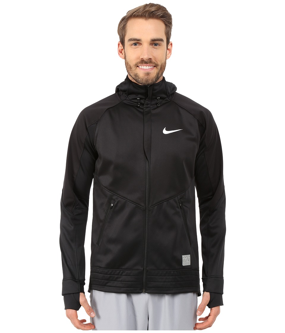 Nike - Hyper-Lite WTR Motion TF Full Zip (Black/Black/Black/Metallic Silver) Men's Workout
