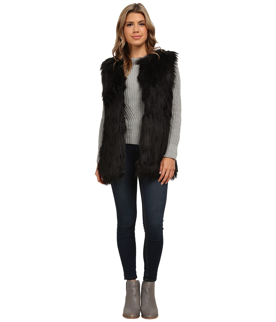 Gabriella Rocha - Katrina Faux Fur Vest (Black) Women's Vest