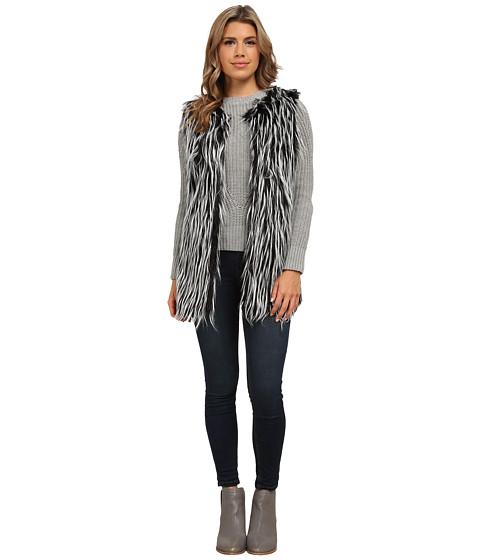 Gabriella Rocha - Katrina Faux Fur Vest (Black/Grey) Women's Vest