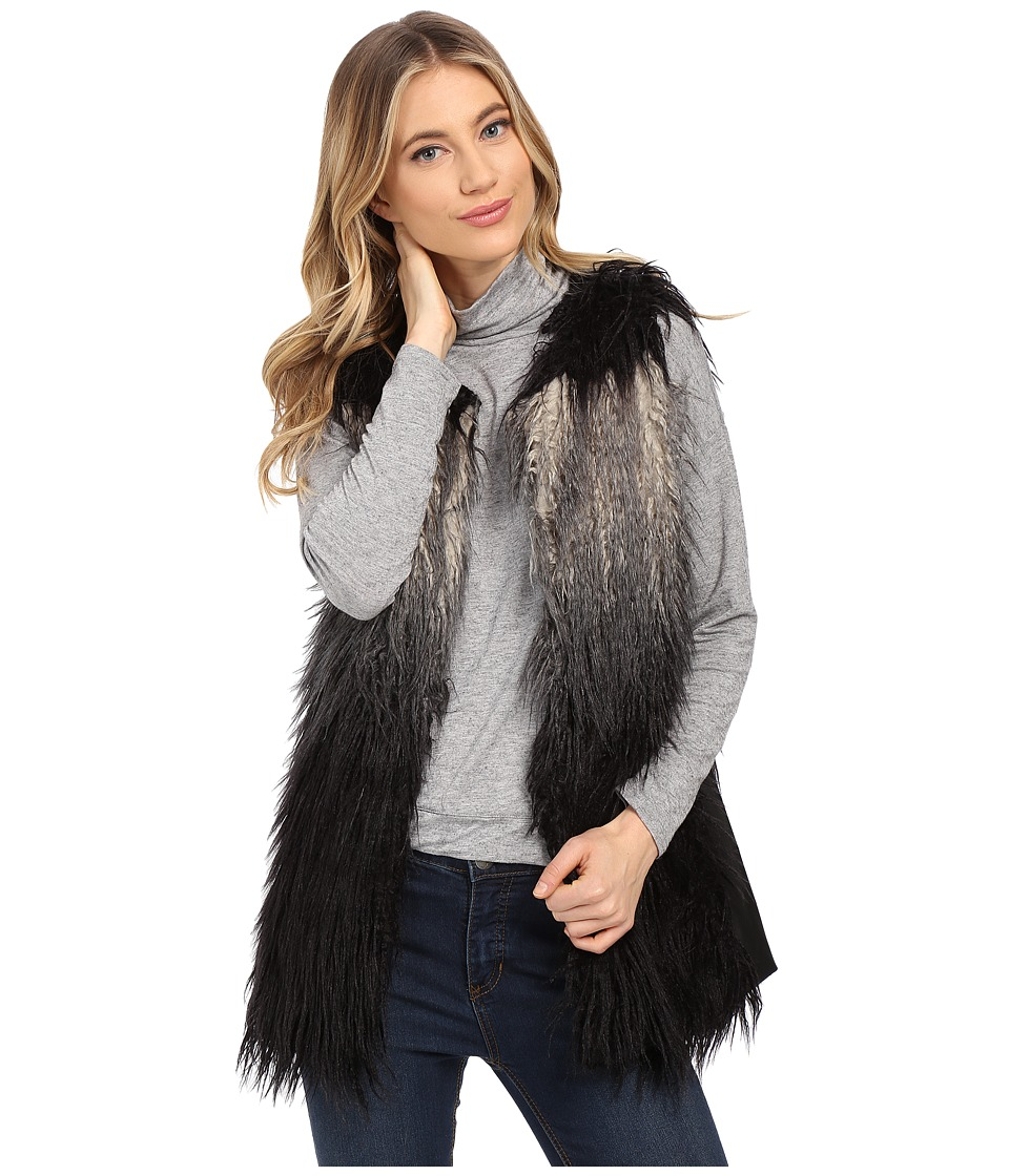 Gabriella Rocha - Katrina Faux Fur Vest (Grey/Black Ombre) Women's Vest