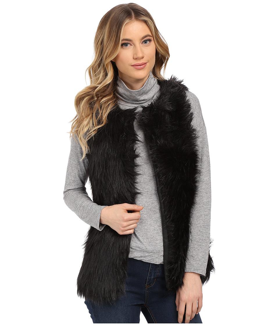 Gabriella Rocha - Alexa Faux Fur Vest (Black) Women's Coat