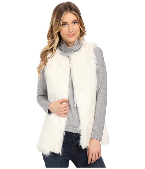 Gabriella Rocha - Alexa Faux Fur Vest (Ivory) Women's Coat