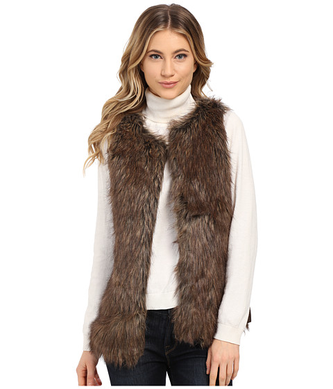 Gabriella Rocha - Alexa Faux Fur Vest (Brown 1) Women's Coat