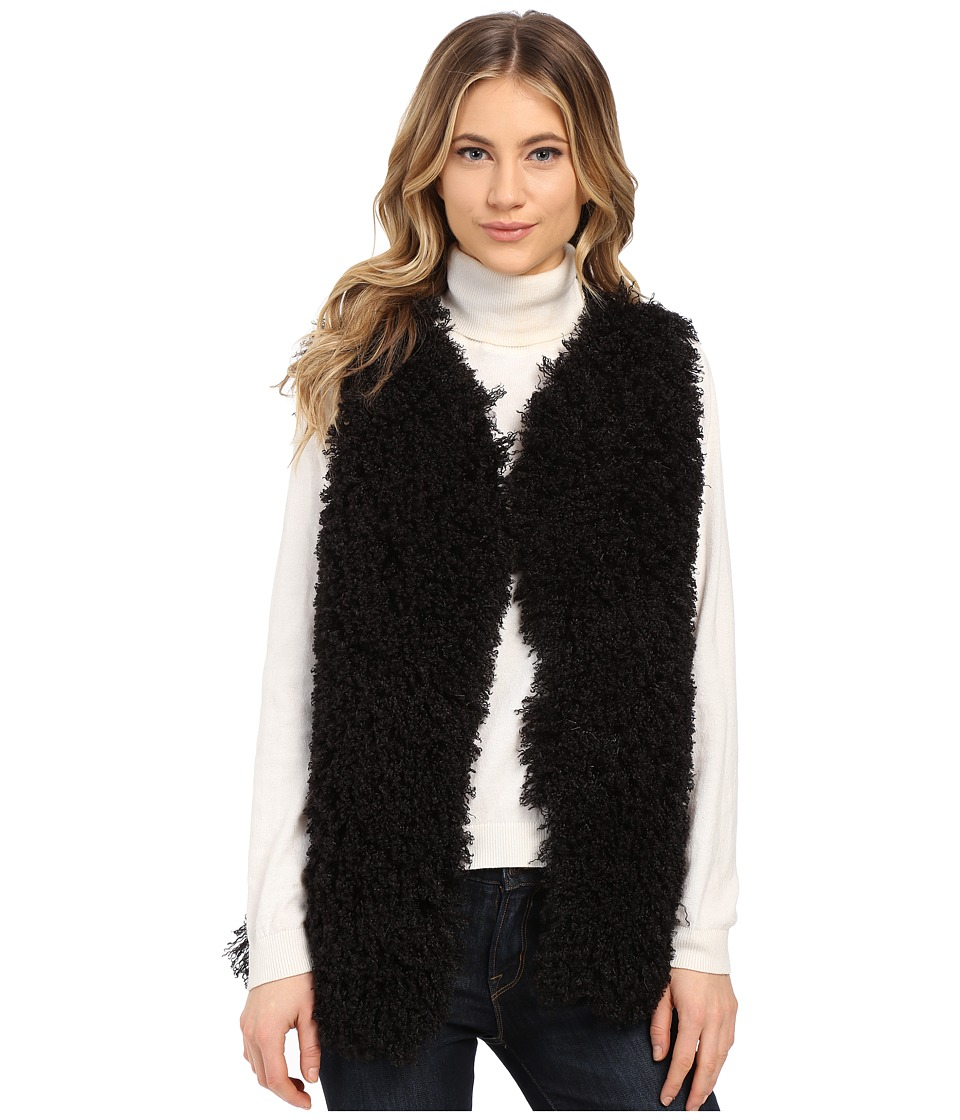 Gabriella Rocha - Lucy Faux Fur Vest (Black) Women's Vest
