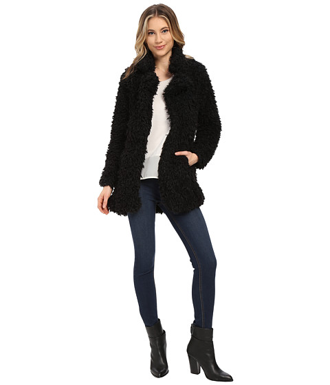 Brigitte Bailey - Alyssa Faux Fur Jacket (Black) Women