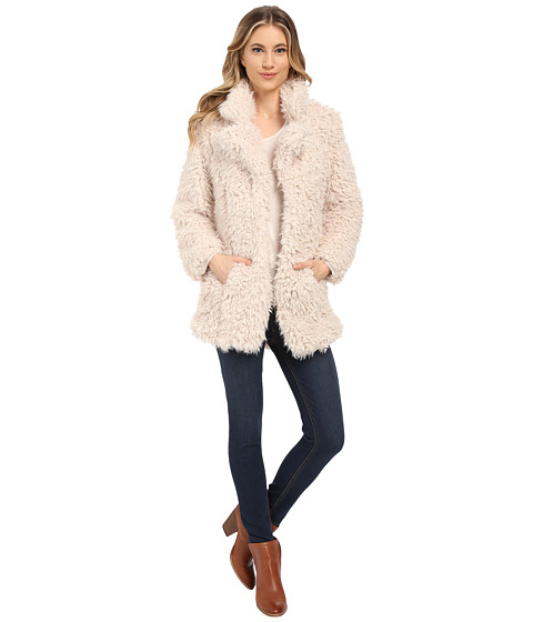 Brigitte Bailey - Alyssa Faux Fur Jacket (Cream) Women's Vest