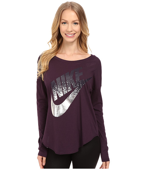 Nike - Signal Long Sleeve Tee Metallic (Noble Purple) Women