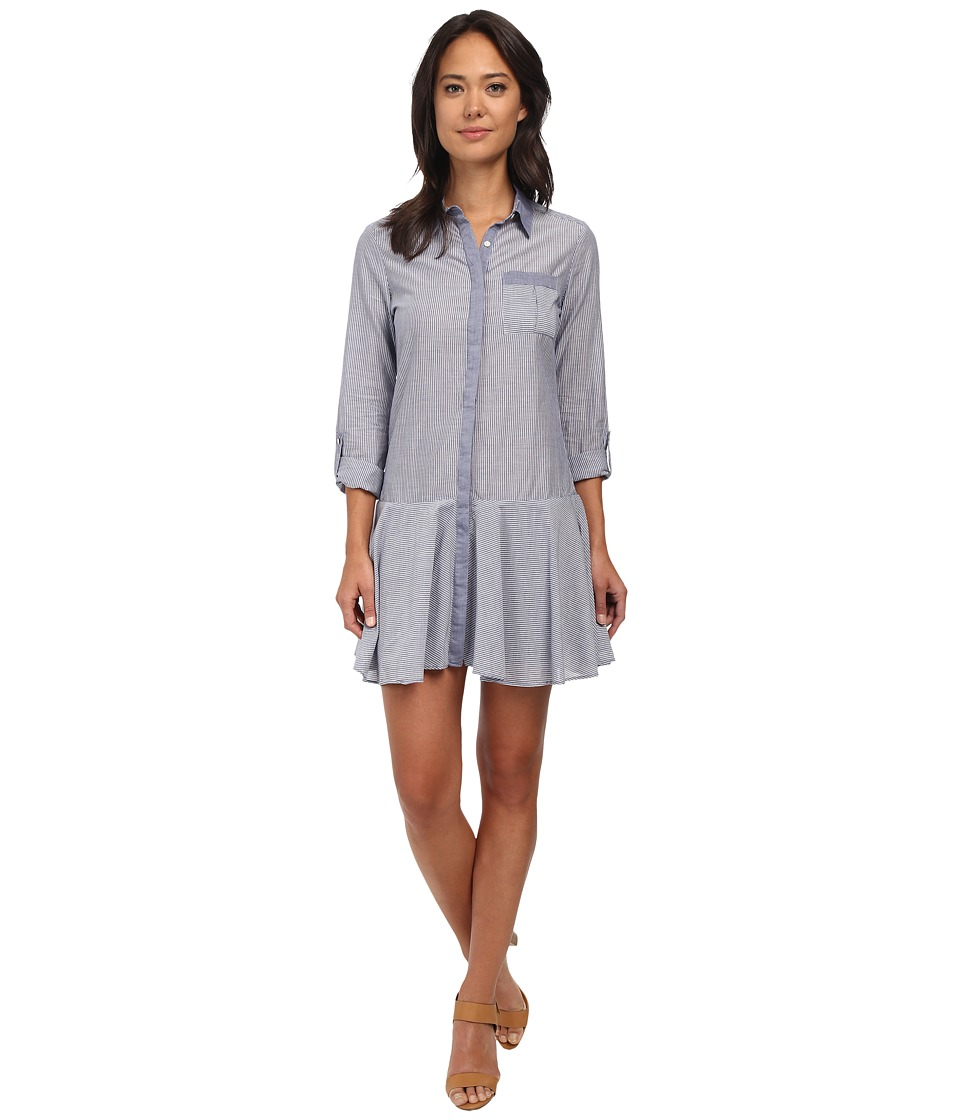 Sam Edelman - Collared Shirtdress (Blue) Women's Dress