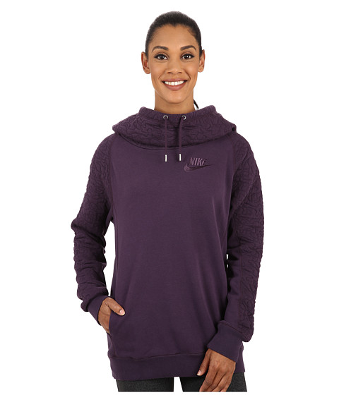 Nike - Quilted Rally Hoodie (Noble Purple) Women