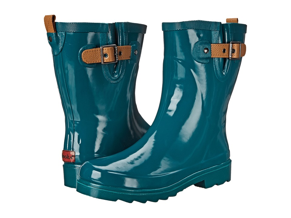 Chooka Top Solid Mid Rain Boot (Forest) Women