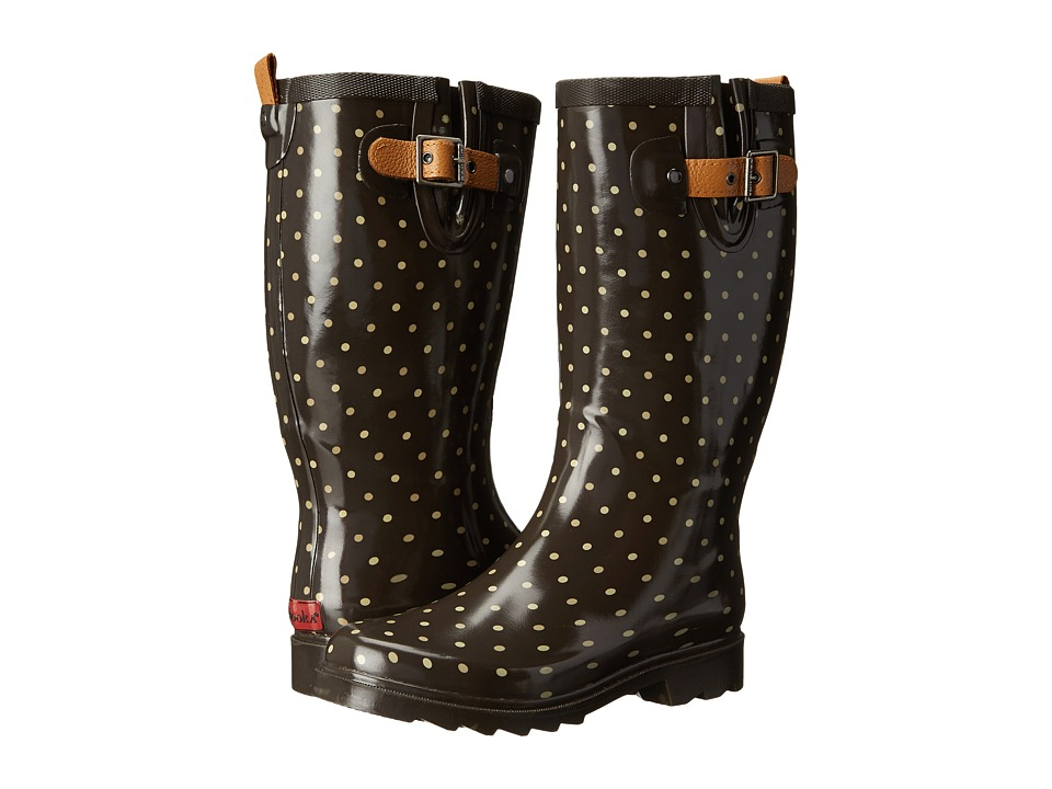 Chooka - Classic Dot Rain Boot (Espresso) Women's Rain Boots