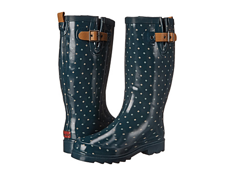 Chooka - Classic Dot Rain Boot (Deep Juniper) Women's Rain Boots
