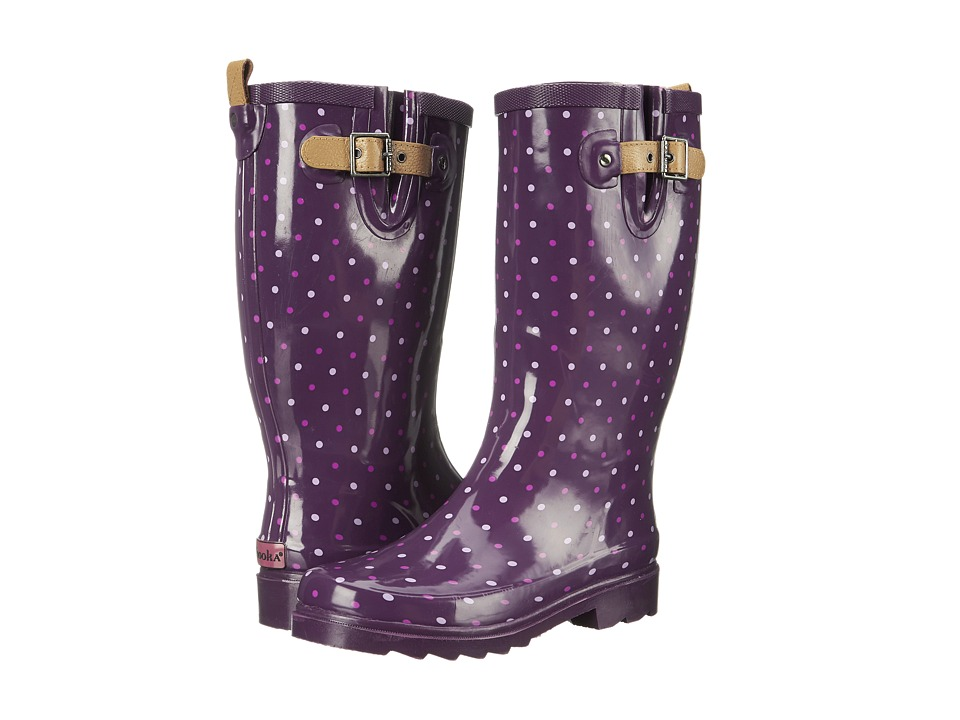 Chooka Classic Dot Rain Boot (Imperial Purple) Women
