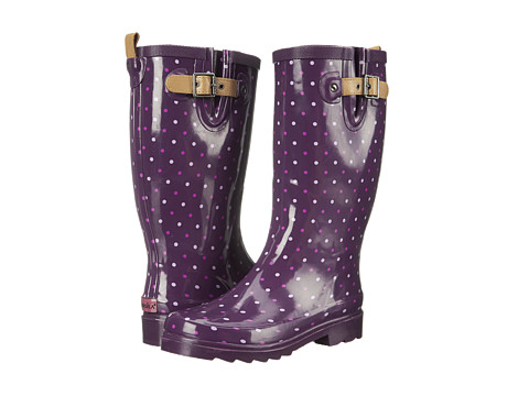Chooka - Classic Dot Rain Boot (Imperial Purple) Women's Rain Boots