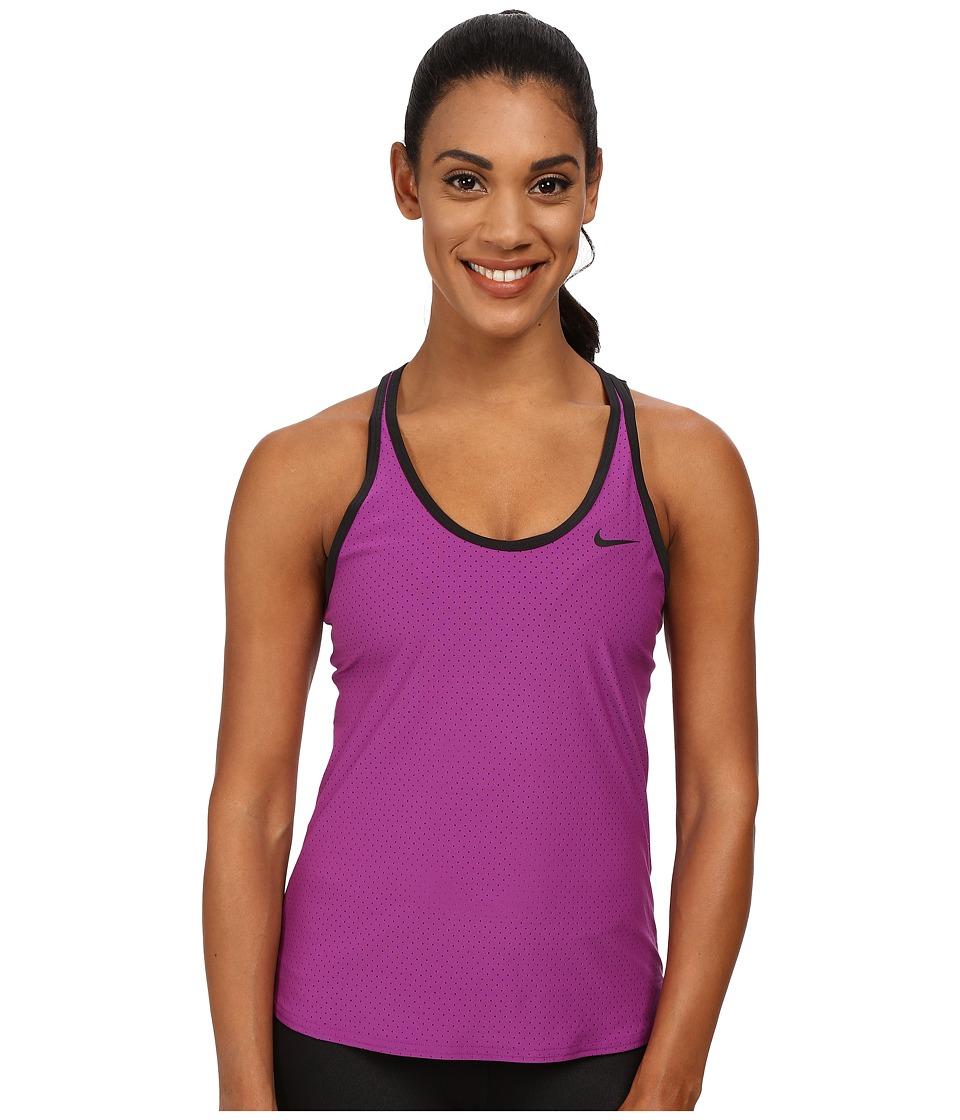 Nike - Slam Breathe Tank Top (Purple Dusk/Black) Women's Sleeveless