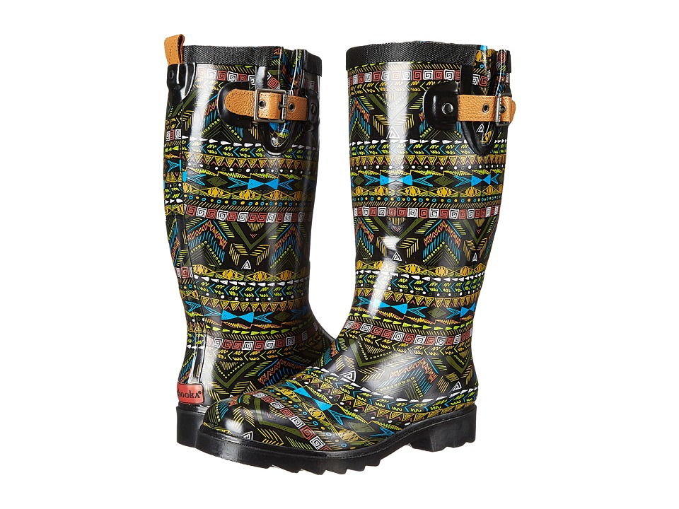 Chooka - Mystic Tribal Rain Boot (Black) Women
