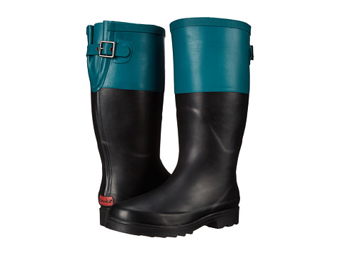 Chooka - Color Block Back Gusset (Forest) Women's Rain Boots