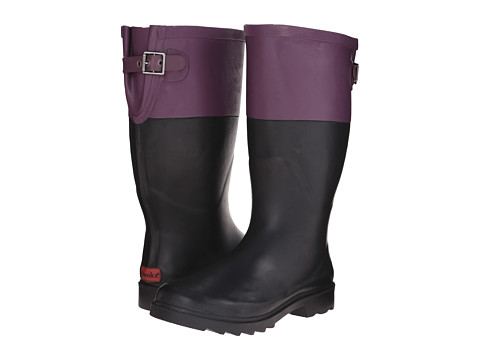 Chooka - Color Block Back Gusset (Imperial Purple) Women's Rain Boots