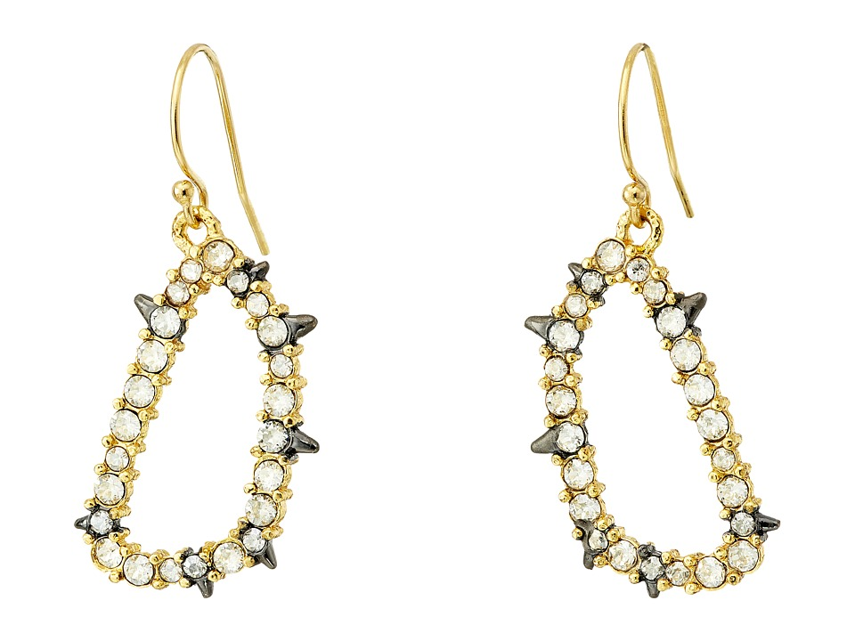 Alexis Bittar - Spiked Crystal Wire Earrings (Gold/Ruthenium) Earring