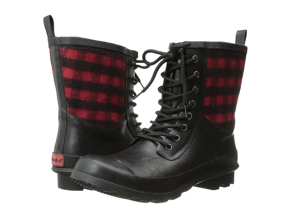 Chooka - Cara Plaid Rain Boot (Red) Women